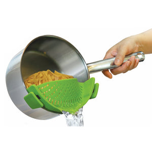 Kitchen Silicone Clip-On Pot Strainer