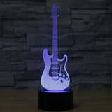 3-D LED Guitar Table Lamp - 7 Changeable Colors