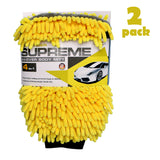 Two (2) - 4 in 1 Multi-Function Car Wash / Wax / Detailing Chenille Gloves