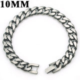 Men's Cuban Stainless Steel Bracelet Links & Chains