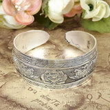 Vintage Bohemian Metal Multi-Pattern Cuff Bangle Bracelet
