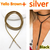 Elegant Choker Necklace Long Rope Chain - 18 color styles!