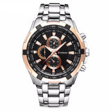 Modern Men's Full Stainless Steel Quartz Dress Watch