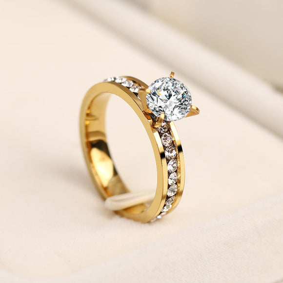 Brilliant Round Cut cz Engagement / Wedding Ring
