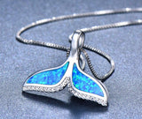 Exquisite Mermaid Tail Pendant Necklace - 925 Sterling Silver filled