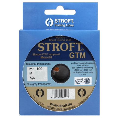 STROFT® GTM Monofilament Fishing Line | 130m | 0.03 - 0.45mm | 0.25 - 17.5 kg