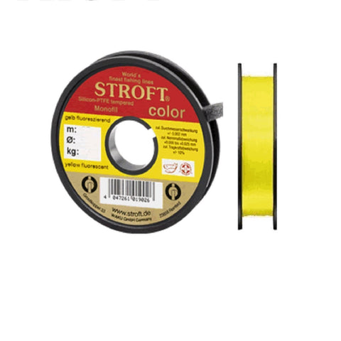 STROFT® Fluorescent Monofilament Fishing Line | Black, Red, Yellow | 25-50m | 0.13-0.22mm | 1.80-4.7kg