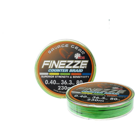Savage Gear Finezze HD8 Couner Braided | Line | 230m | 0.40mm | 36.3kg