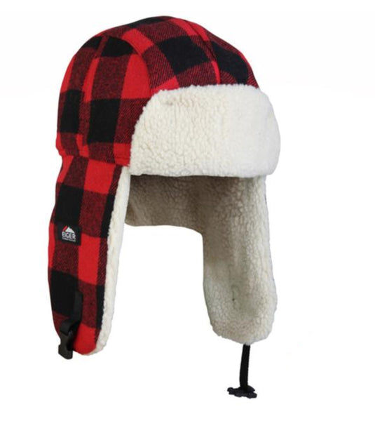 Eiger Fleece Korean Hat Red Check
