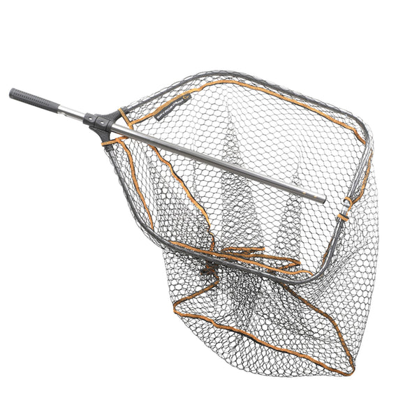 Savage Gear Pro Tele Folding Rubber Large Mesh Landing Net | L 1.22 - 2.70m