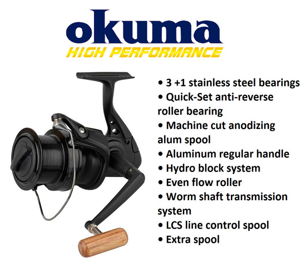 Okuma Custom Black CB-80 3+1bb 3.8:1 +spool 694g