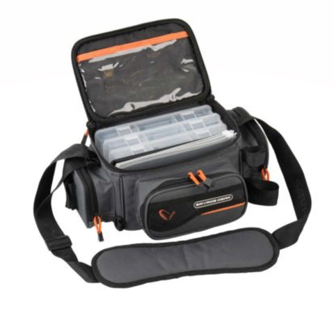 Savage Gear System Box Bag | S 3 boxes & PP Bags | 15x36x23cm