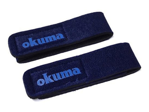 Okuma Neopren Rod Straps | Medium | Blue 2pcs | 24cm