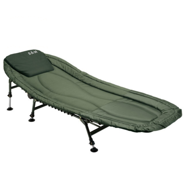 DAM Six-Leg Luxury Bedchair for Carp Fishing | Aluminium Or Steel