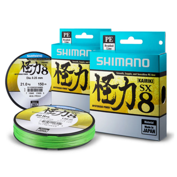Shimano KAIRIKI SX 8 Braided Line | 0.07-0.33mm