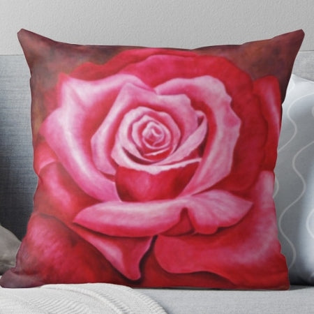 Rose Art on your Pillow by Karen Storay - Art on your Pillow