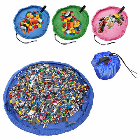 Childrens Play Mat Drawstring Storage Bag Toys Organizer - Art on your Pillow
