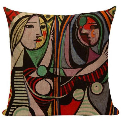 Picasso Paintings on Linen Blend Decorative Throw Pillow Cushion Covers - Art on your Pillow