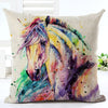 Image of Watercolor Horse Art on Linen Blend Decorative Throw Pillow Cushions. $29.99 - Art on your Pillow
