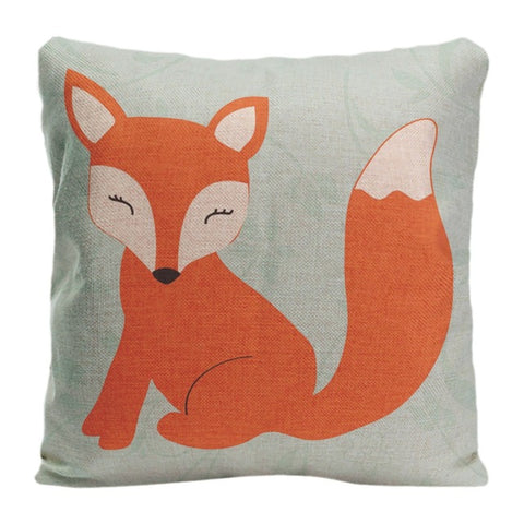 Fox Art Decorative Throw Pillow Cushion Cover 2 Sizes - Art on your Pillow