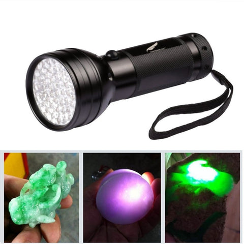 Ultraviolet Blacklight Flashlight Pet Urine Stain Bed Bugs Detector Multifunction Torch 51 LEDs - Art on your Pillow