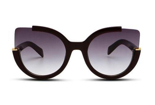 Sunglasses - ZOÉ - BROWN / BRIGHT BLACK