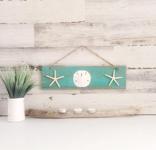 Coastal Farmhouse Wall Hanging 10 Minutes DIY