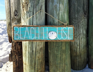 Aqua Beach House Sign