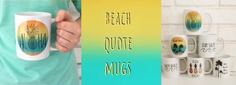 SableSol Beach Quote Mugs