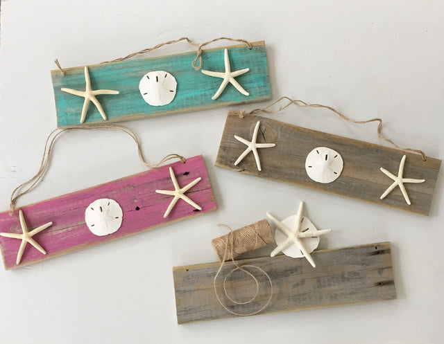 Starfish and Sand Dollar Wall Hanging