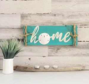 wood sand dollar home sign