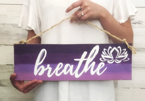 Breathe lotus flower sign -SableSol