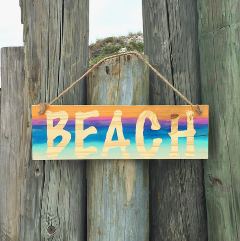 Wood Beach Sign - Sablesol