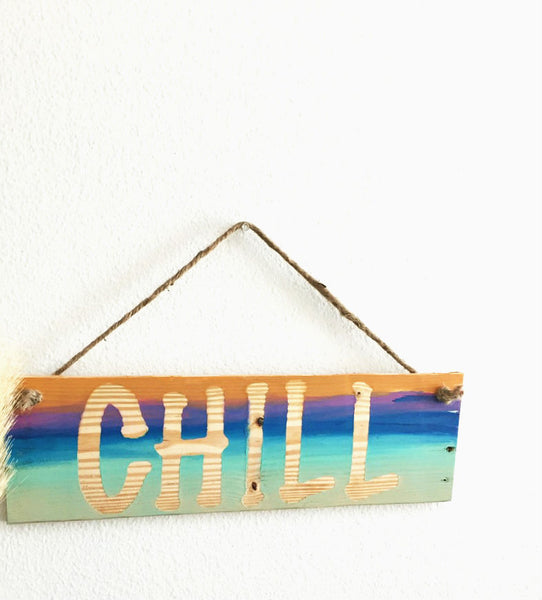 Wood Chill sign - SableSol