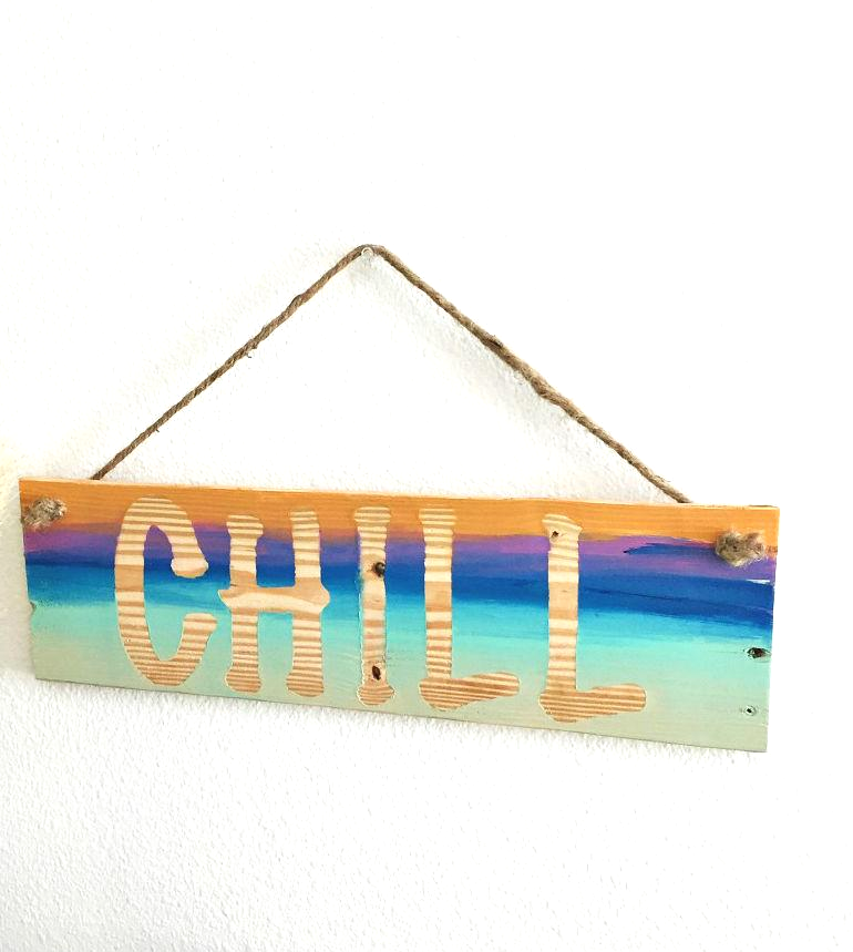 "wood ""chill"" sign - SableSol"