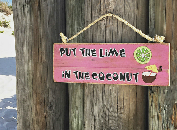 Put the Lime in the Coconut Sign - SableSol