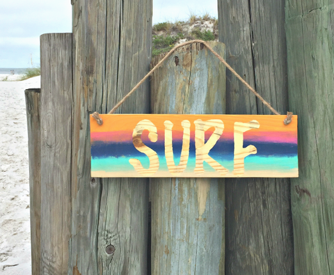 Wood Surf Sign - SableSol