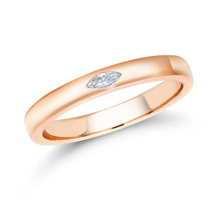 18 karat yellow gold marquise diamond wedding band