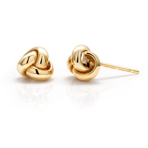 14 karat gold love knot earrings