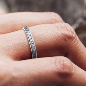 Platinum Diamond Two Millimeter Eternity Wedding Band - OGI-LTD