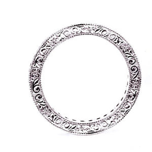 Platinum Diamond Hand Engraving Eternity Wedding Band - OGI-LTD