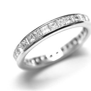 Partial Princess Cut Diamond Wedding Ring - OGI-LTD