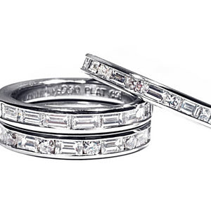 Platinum Baguette Diamond Eternity Wedding Ring - OGI-LTD