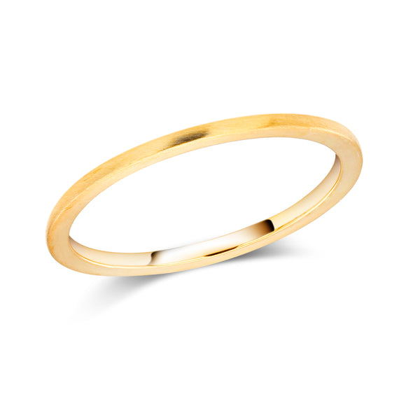 14 Karat Yellow Gold One Millimeter Wedding Band - OGI-LTD