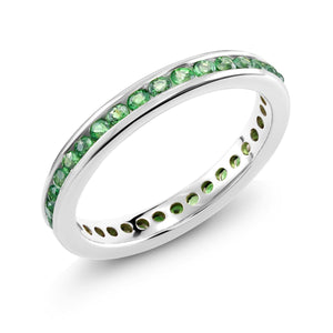 18 Karat White Gold Tsavorite Band - OGI-LTD