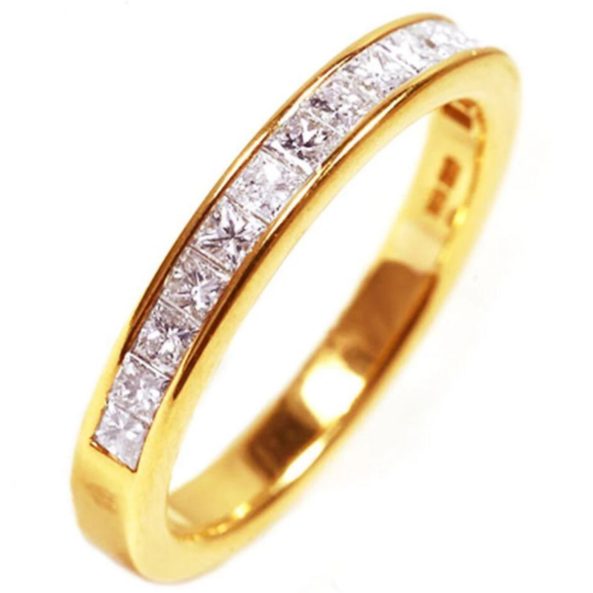 in rng wedding three ct band white ring channel row mens set diamond round gold