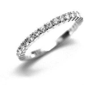 18 Karat Gold Diamond Eternity Prong Set Wedding Band - OGI-LTD