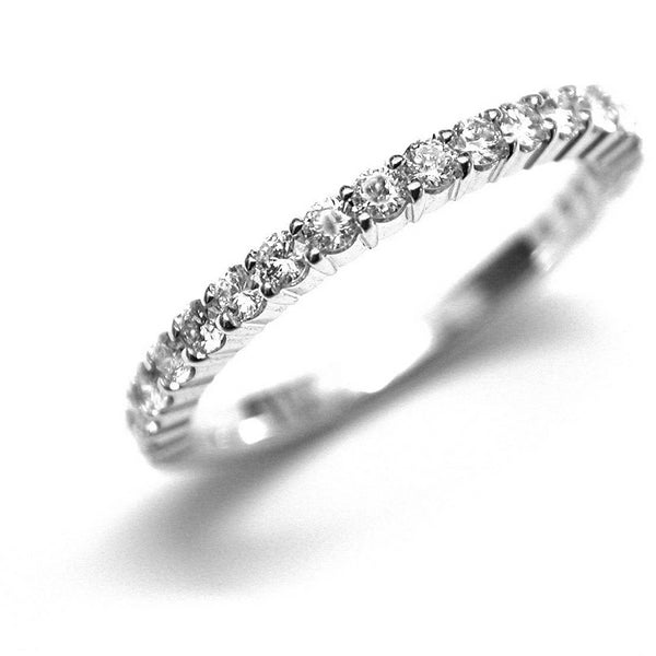 Partial Prong Set Diamond Wedding Ring