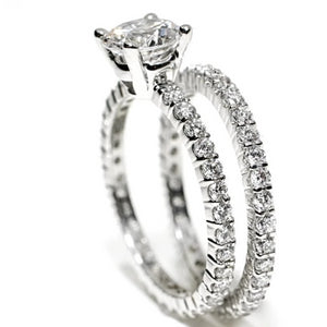 Diamond Eternity Prong Set Wedding Ring - OGI-LTD