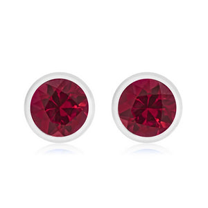 14 Karat Gold Ruby Pair of Stud Earrings - OGI-LTD